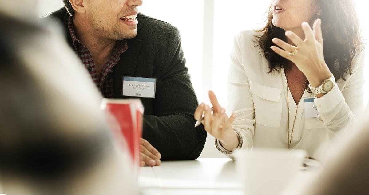 conversation between professionals
