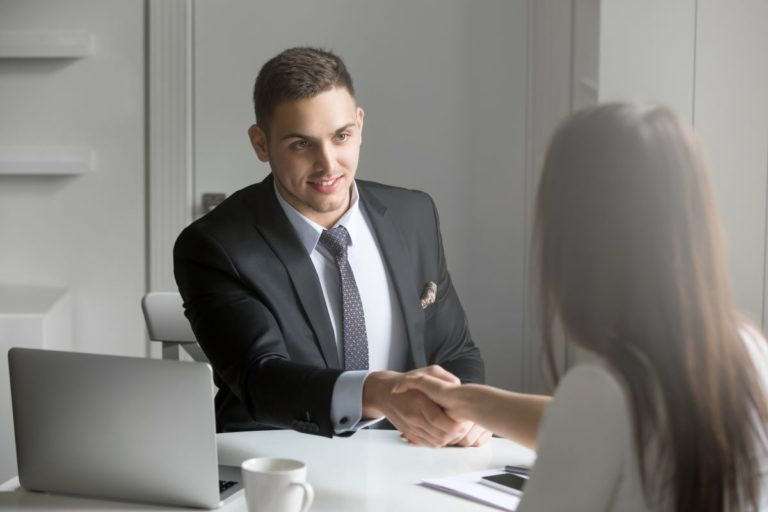 woman accepted in job interview